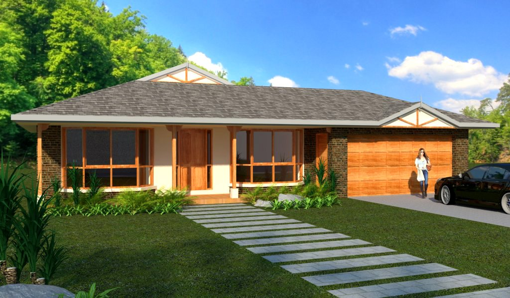 3 bedroom house plans homestead double garage for Houses for sale with floor plans