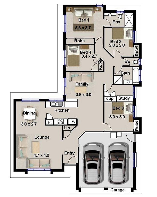 4 bedroom modern contemporary home for narrow land house for 4 bedroom contemporary house plans
