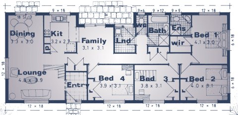 Homestead Colional house plan