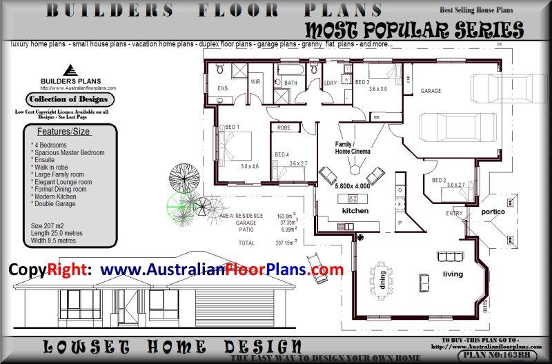 ... Estate 4 Bed House Floor Plan home builder floorplan HOUSE PLANS FOR