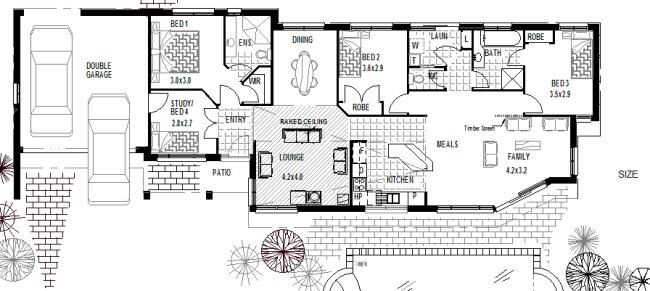 Narrow Lot Plan Small Land Plan Floor Plans Sloping Land