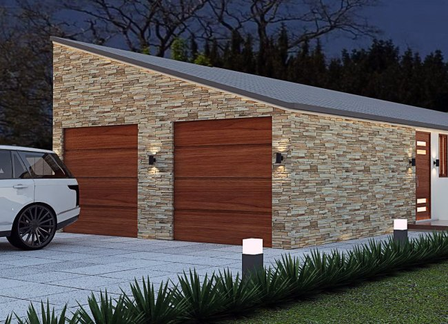 Narrow Lot Design Dual Key home Design