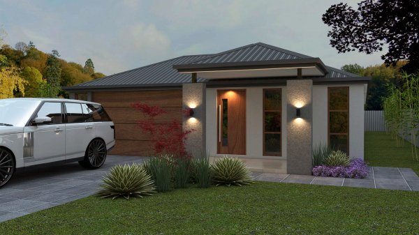5 bedroom narrow lot home design