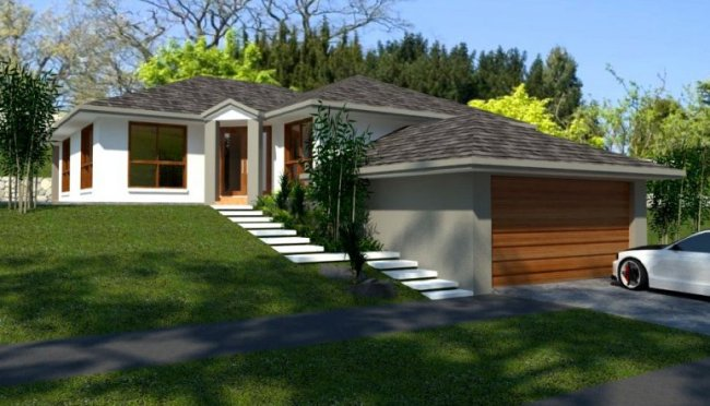 4 Bed Room House Plan for Sloping Land