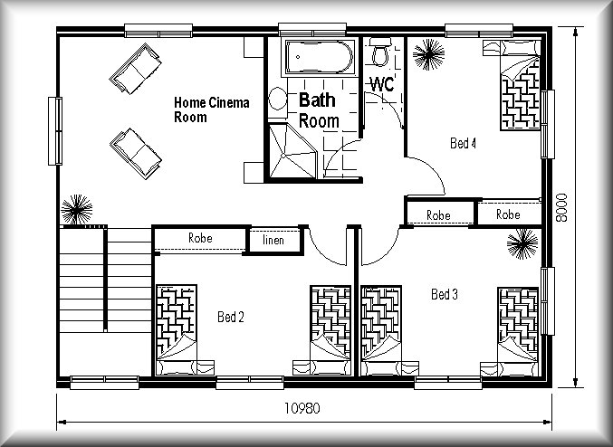 Narrow and odd shaped land design floor plans small land for Home and land design