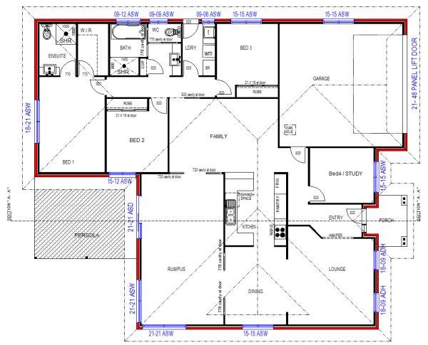 4 Bedroom Plus Rumpus Room Modern Style Home Design