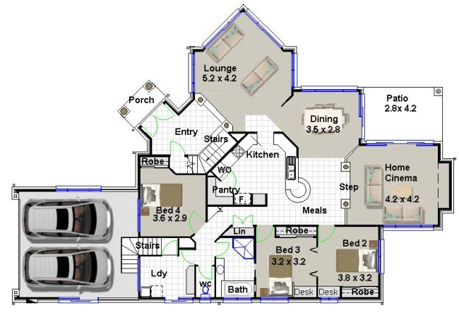 4 Bed + Garage Under Design:256