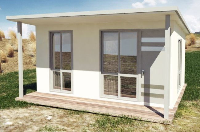 Small House Plan 25 0 M2 25 Cabin 1 Bedroom Design
