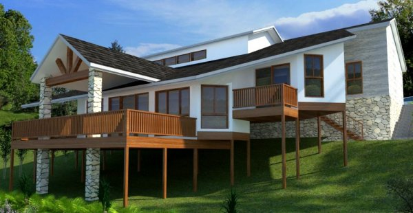australian sloping land house plans