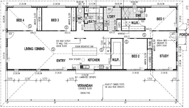 Australian 4 5 homestead home design plans australian Homestead house plans