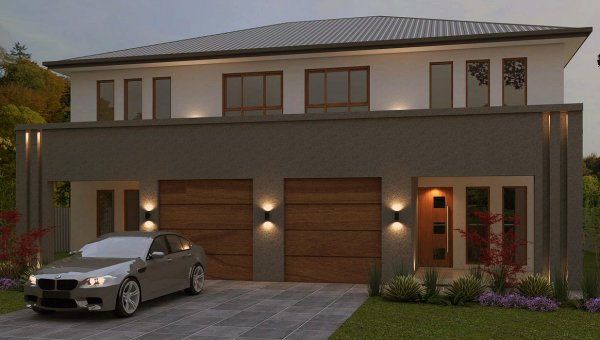 two storey duplex plans