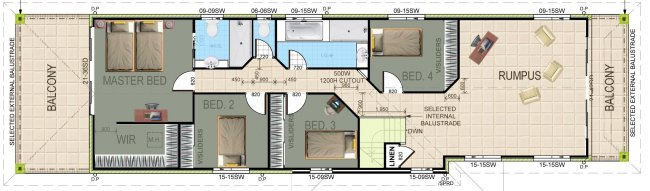4 Bed Narrow Lot 2 Storey Plan:321A