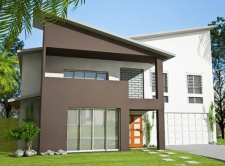 2 storey sloping land