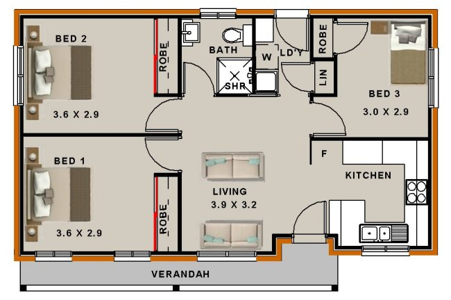 Small house or granny flat House Plans