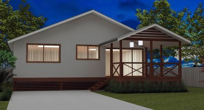 3 Bed + 2 Bath + Ld'y Modern Homestead home design