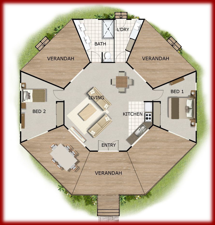 Design 170 cottege home office grannyflat guest quarters House layout plan