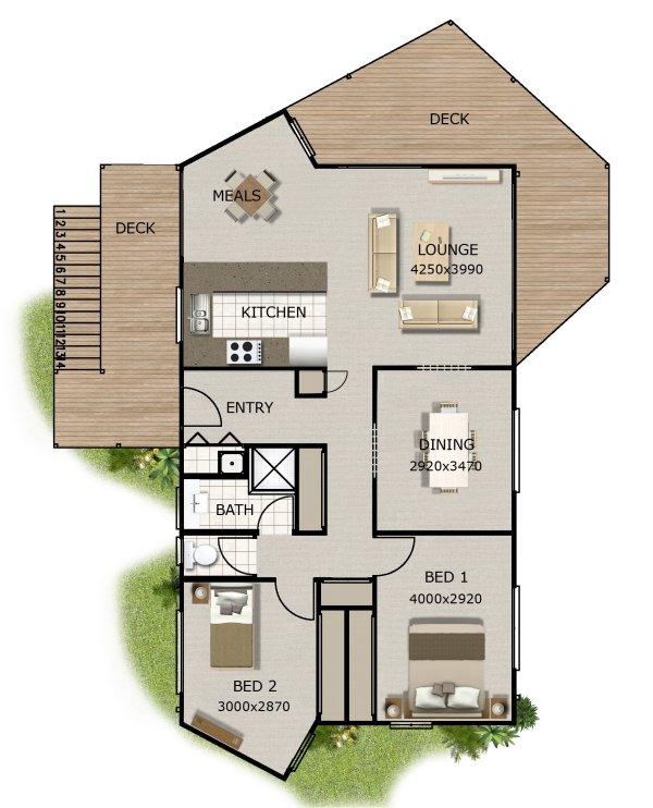 Home Design Ideas Australia: NEW 2 BEDROOM HOME DESIGN